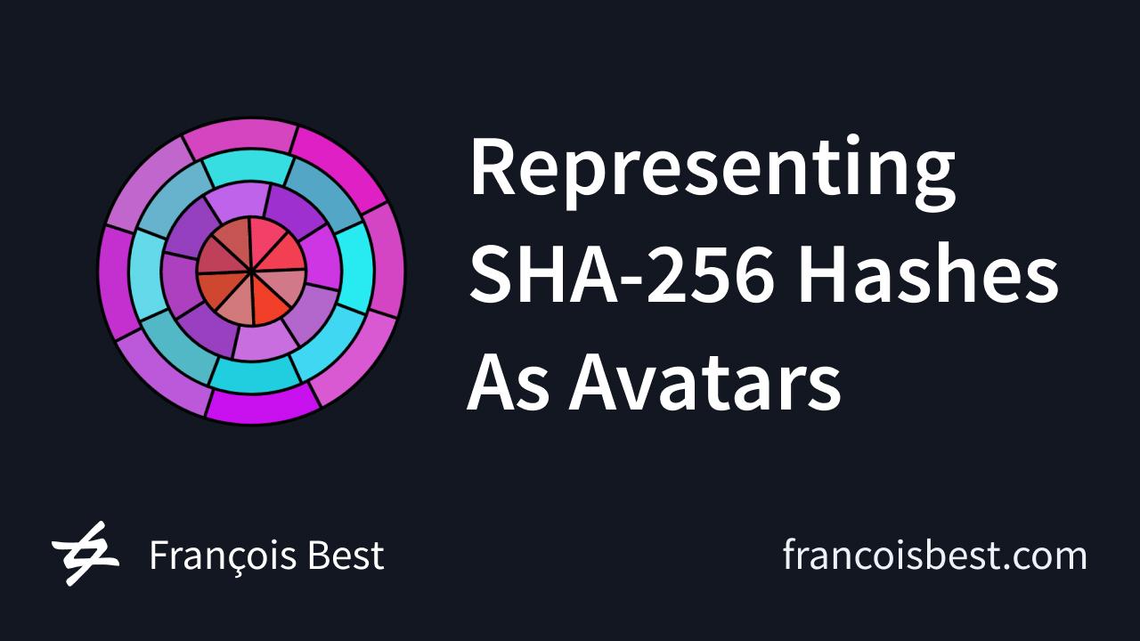 Representing SHA-256 Hashes As Avatars
